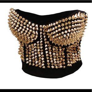Tops - Madonna Style Bustier Bra Corset Top